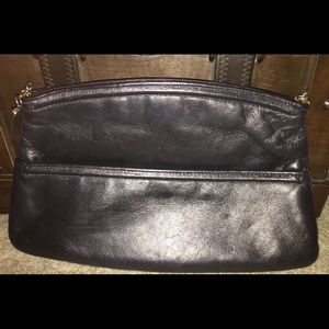 AND'E!!!!GREAT COND REAL LEATHER HAND/ MAKE-UP BAG